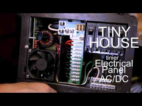 ac dc electrical panel wiring set up for a tiny house or camp cabin rh youtube com DC Power Jack Wiring house wiring dc or ac