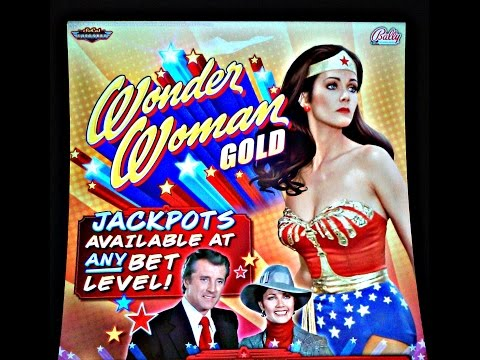 Bally - Wonder Woman ( Gold ) :  3 Bonuses and 2 Line Hits on Minimum bet