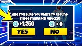 FORTNITE REFUND SYSTEM IS BACK! Refund for FREE V-BUCKS! (Fortnite Refund System Xbox, PS4, PC)