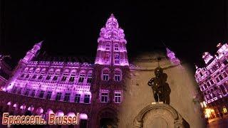 Световое шоу на центральной площади Брюсселя. Light show on Grand-Place