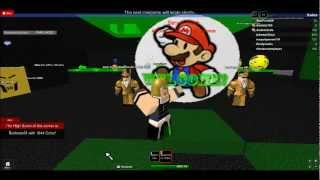 Bowser playing a game in roblox
