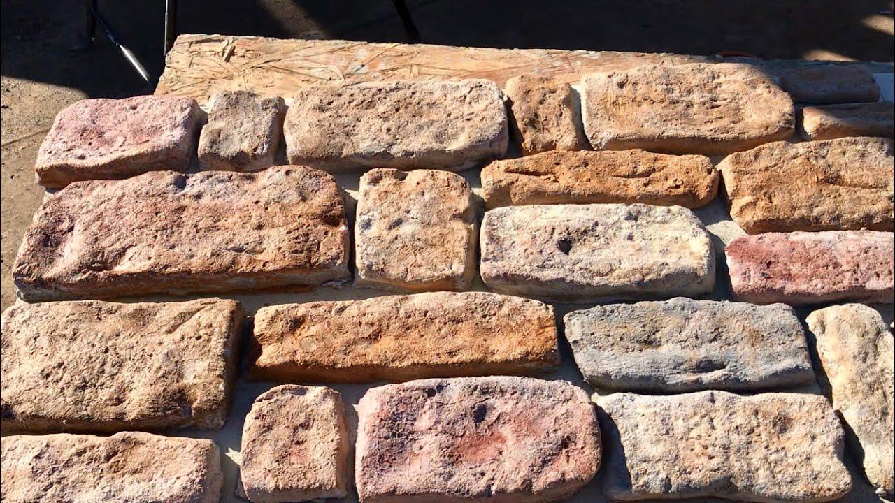 Como Hacer Piedra Fachaleta Sin Ningún Tipo De Moldes Making Stone Vaneer Without Molds Youtube