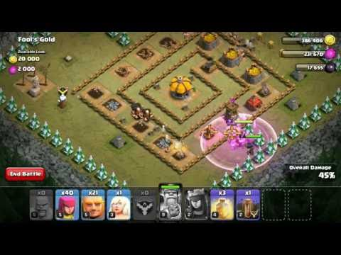 Clash Of Clans Single Player   Fool's Gold
