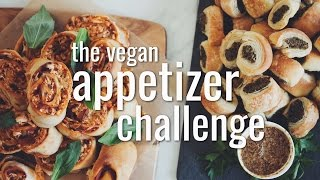 THE VEGAN APPETIZER CHALLENGE | hot for food