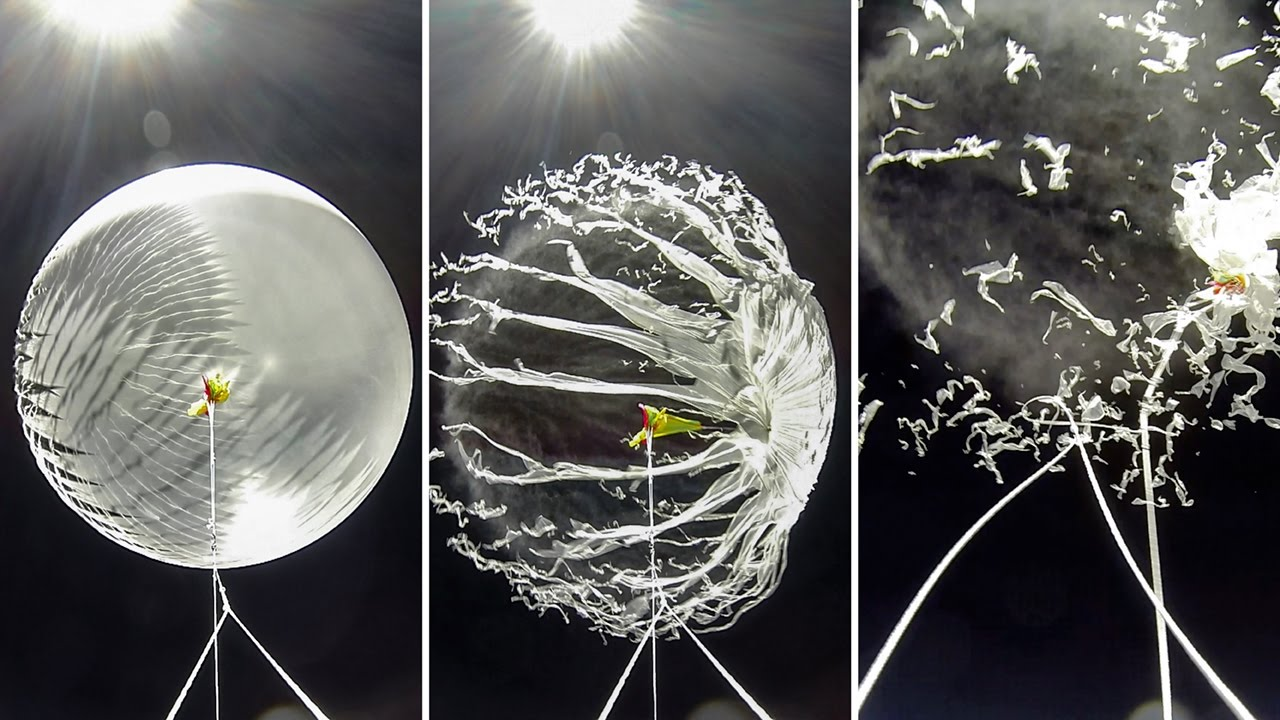 Watch the explosive demise of a weather balloon