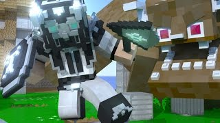 The Hunter - Epic Giant Mob Fight - Minecraft animation
