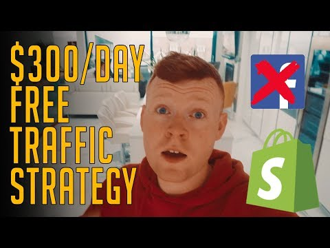 $300/DAY WITH FREE SHOPIFY TRAFFIC 2019  [SHOPIFY DROPSHIPPING] thumbnail