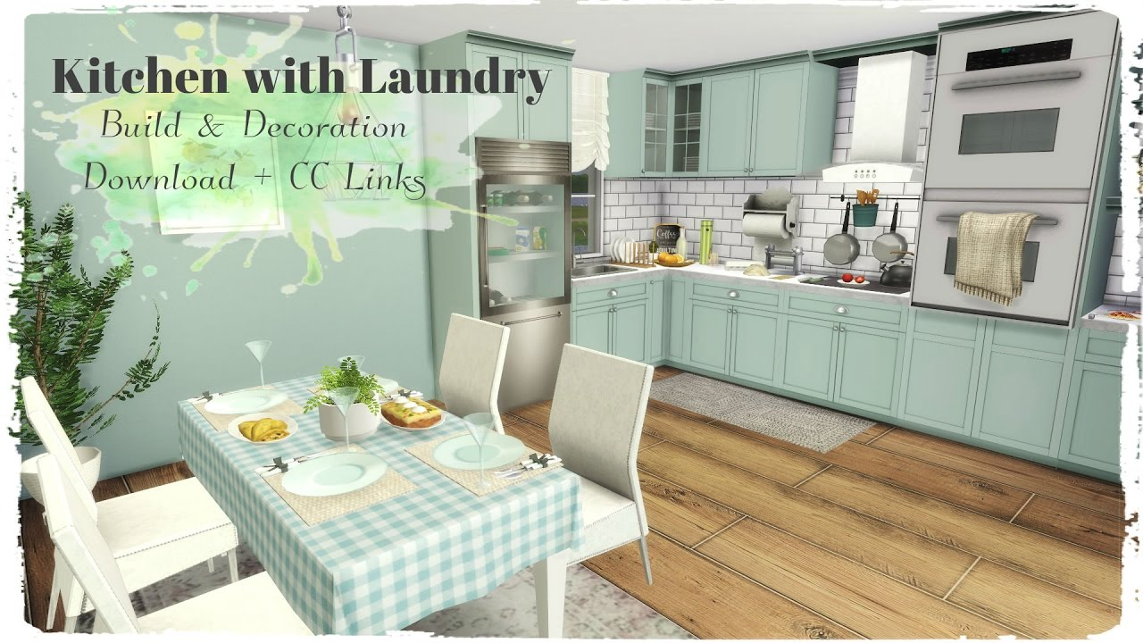 Sims 4 Kitchen With Laundry Build Amp Decoration For