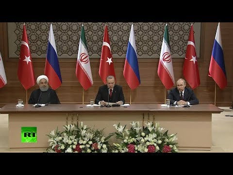 Putin, Erdogan & Rouhani hold joint press conference in Ankara (Streamed LIVE)