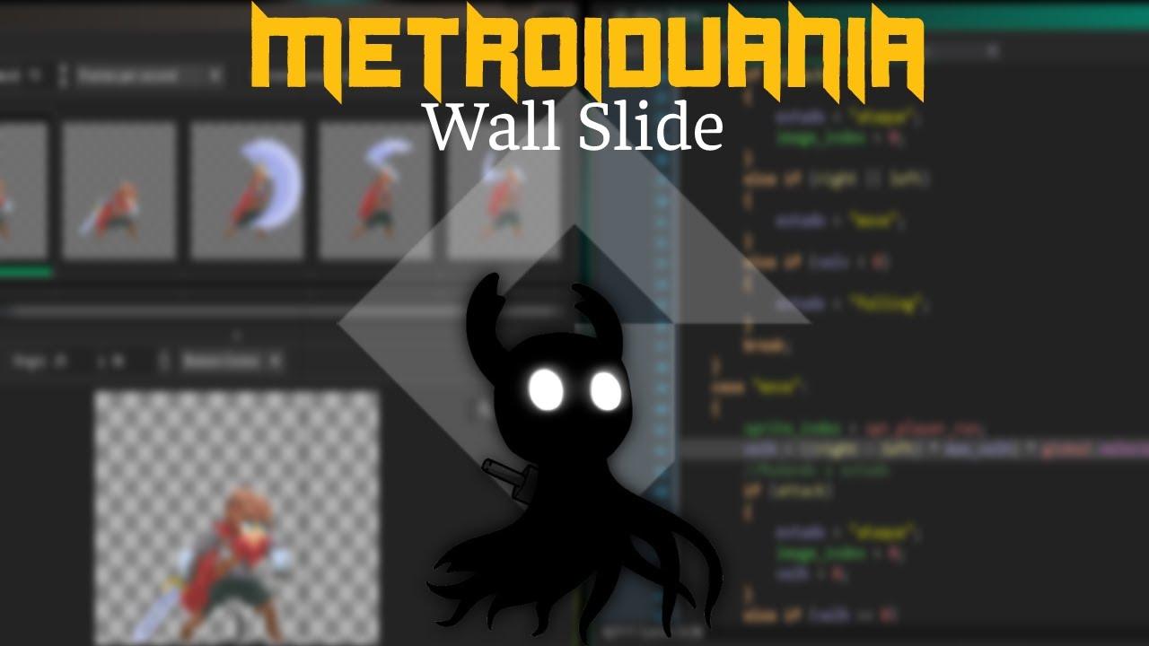 MetroidVania 35 - Finalizando o inimigo e wall slide (deslizando na parede) | Game Maker Studio 2