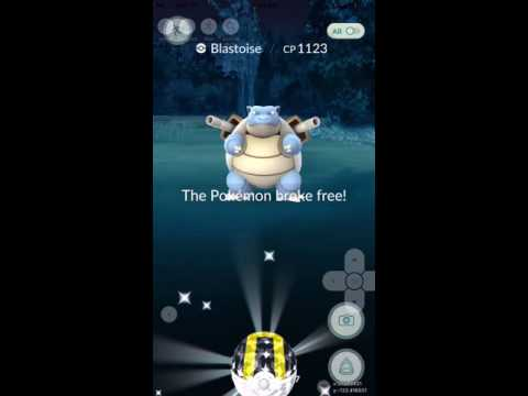 Pokemon Go Wild Blastoid in the Middle of Ocean High CP