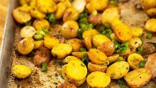 Greek Lemony Roasted Baby Potatoes