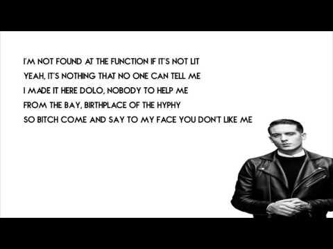 G Eazy - Calm Down Lyrics
