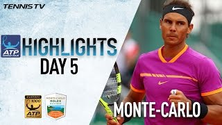 Highlights: Nadal Djokovic Prevail Thursday At Monte-Carlo Rolex Masters 2017