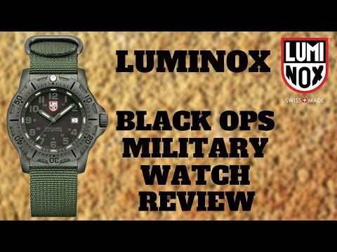 Luminox Black Ops Carbon Military Watch Review Model 8817 Go