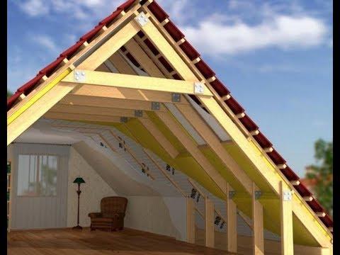 Как построить мансардную крышу дома своими руками видео