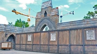 CONSTRUCTION UPDATE: Harry Potter thrill ride at Islands of Adventure, Universal Studios Florida