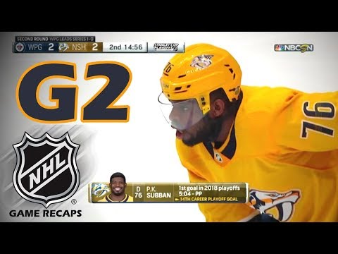 Winnipeg Jets vs Nashville Predators. 2018 NHL Playoffs. Round 2. Game 2. 04.29.2018. (HD)