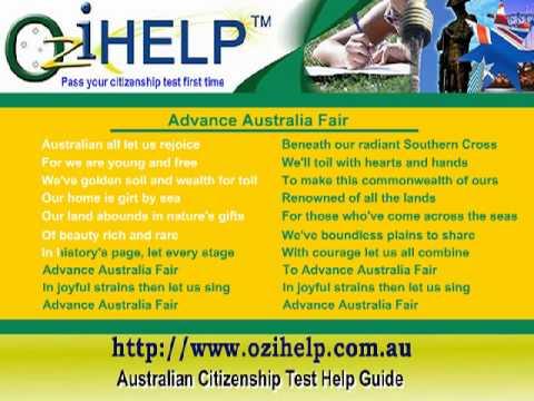 Australia National Anthem - Advance Australia Fair FULL VERSION with lyrics