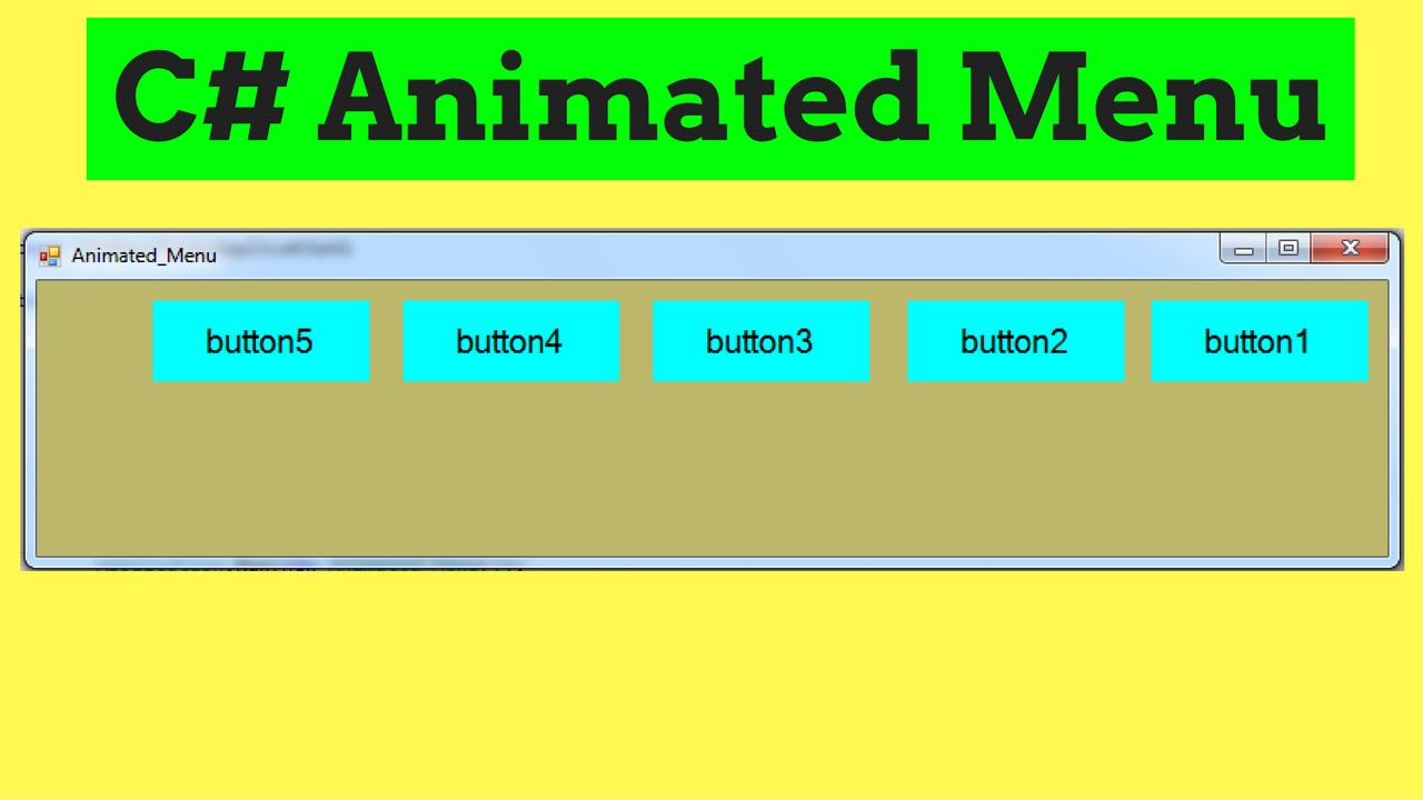 C sharp button background image - C Create Animated Menu With Buttons In C With Source Code