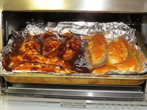 Chicken Breast Tenderloins With Dr. Pepper BBQ Sauce Cooked In The Toaster Oven
