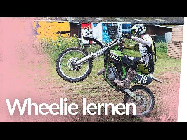 Wheelie lernen mit der Cross-Maschine   Kliemannsland