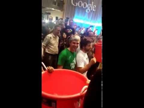 Larry Page and Sergey Brin ALS icebucket challenge