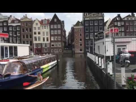 Amsterdam tourist attractions  Damrak houses building