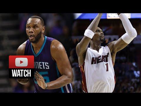 Al Jefferson vs Chris Bosh Duel Highlights Hornets vs Heat (2014.11.05) - 51 Pts, 23 Reb Total!