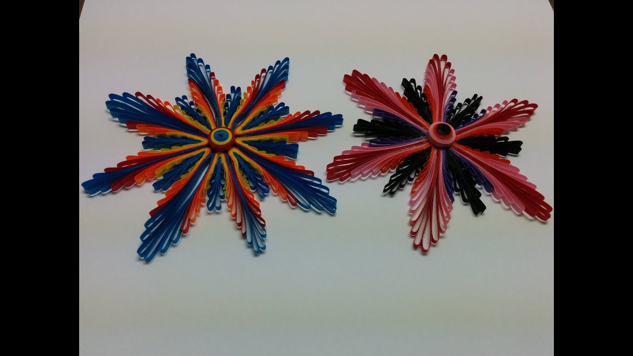 Papercraft Art & Carft: How to make Paper Quilling Flower