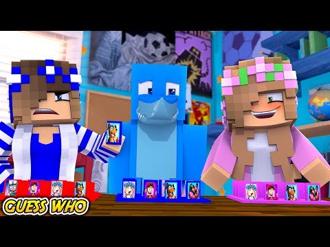 GUESS WHO BOYS (vs) GIRLS !!! Minecraft w/ Sharky Little Kelly and Little Carly