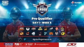 [ LIVE ] Dunia Games Pro Qualifier - PUBG Mobile | Week 5 Day 1