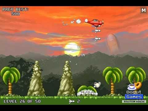 Jungle Crash Land - LEVEL 26 solution (Precision Bombing)