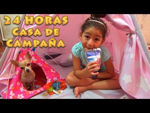 24 HORAS EN UNA CASA DE CAMPAÑA CON PÍCHU MY CHIHUAHUA DOG | RETO | CHALLENGE
