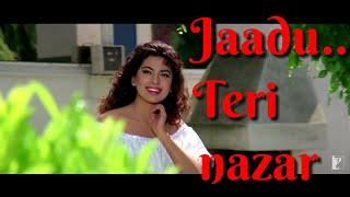 Jaadu Teri Najar Song with Lyrics, Shahrukh khan song, Romantic WhatsApp status video