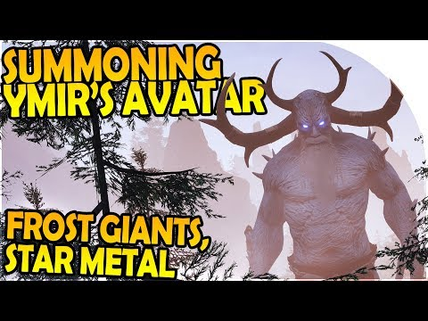 SUMMONING the NEW YMIR GOD AVATAR, STAR METAL, FROST GIANTS - Conan Exiles The Frozen North Gameplay