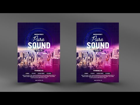 Creative Music Flyer Design -Photoshop Tutorial thumbnail