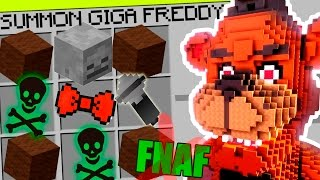 Minecraft FNAF - How To Summon GIGA Freddy in a Crafting Table! Minecraft Teen Titans GO!