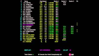 2012 FORMULA 1 UNITED STATES GRAND PRIX (16-18 Nov 2012) - Race Live Timing
