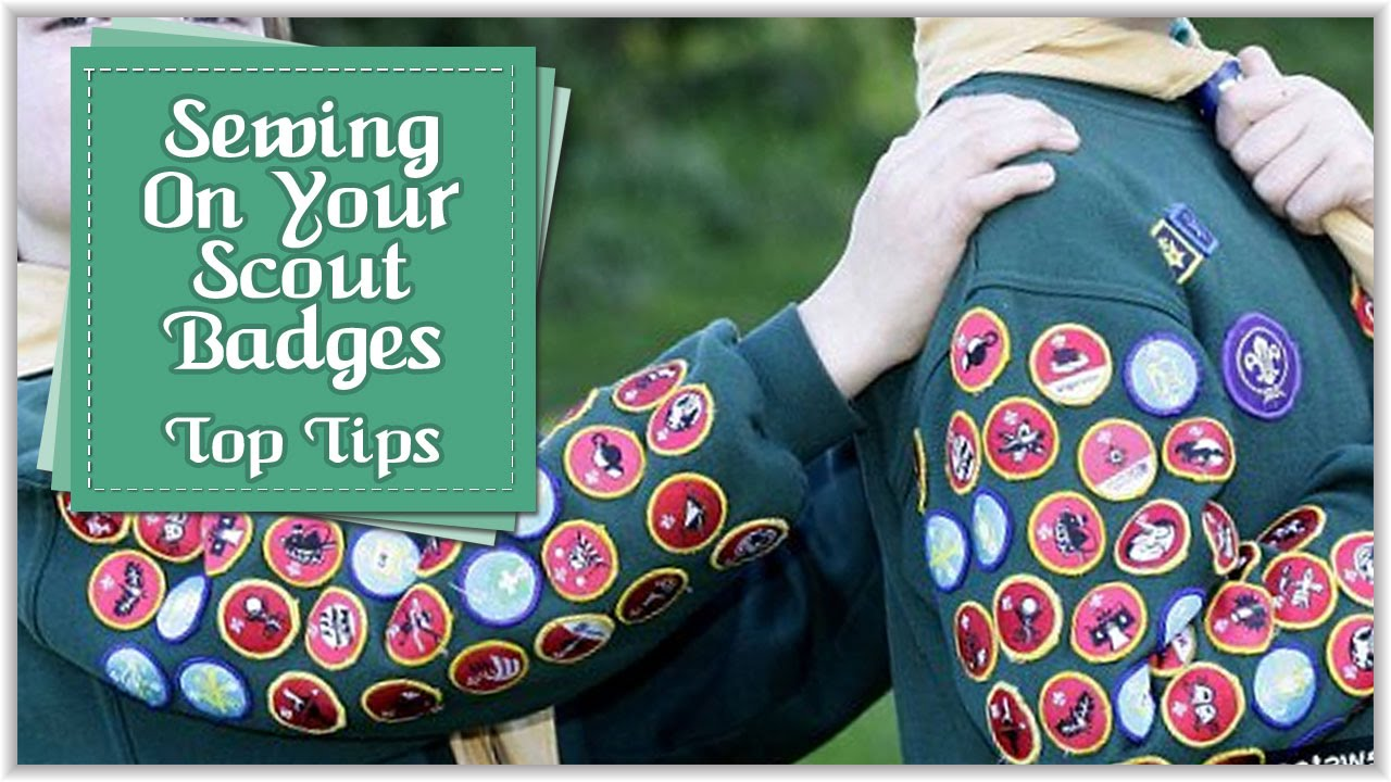 How to Sew on Beaver/Cub/Scout Badges (including bloopers at the end!) |  Tutorial By Babs Rudlin