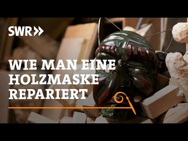 Wie man zerbrochene Holzmasken repariert | SWR Handwerkskunst