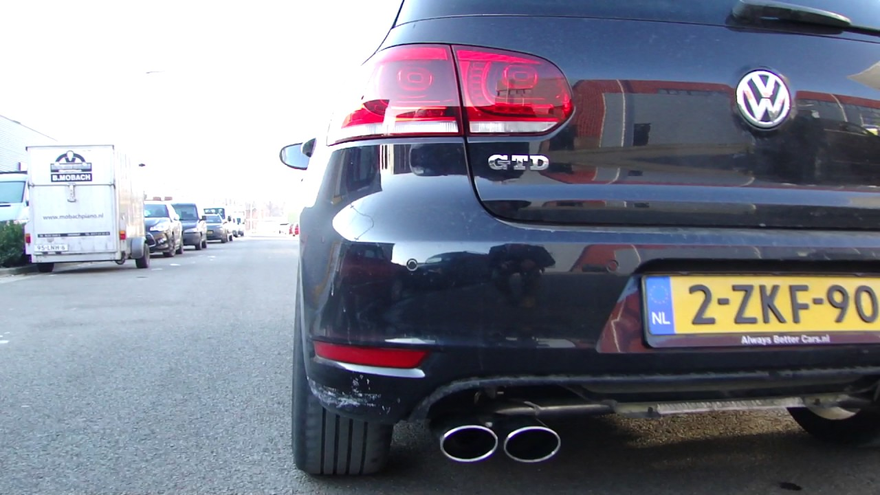 vw golf 6 gtd r duplex exhaust system sportuitlaat uitlaat. Black Bedroom Furniture Sets. Home Design Ideas