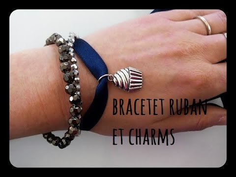 Top tuto bracelet ruban et charms - YouTube VC41
