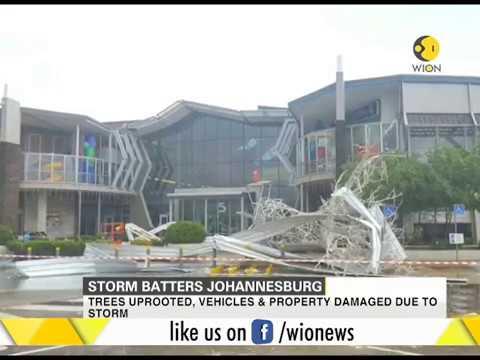 Storm batters Johannesburg