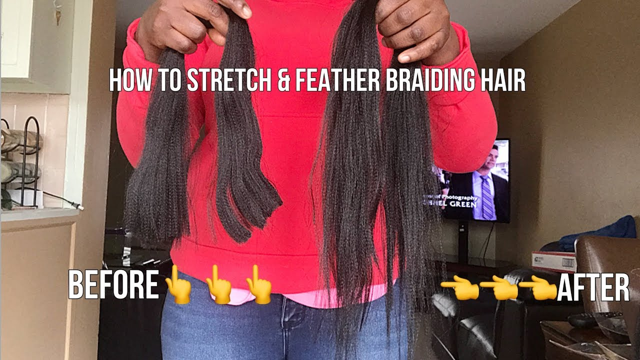 How To Cut Feather Stretch Expression Braiding Hair Extensions