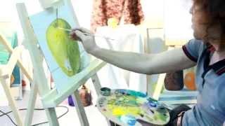 Как начать рисовать масляными красками.Яблоко.(Масло, рисование,урок рисунка, учу, учимся, учиться, учитель, учеба, репетитор, частные уроки, педагог, рисуно..., 2013-01-25T11:47:06.000Z)