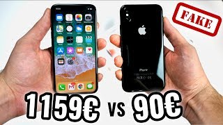 1159€ iPhone X VS 90€ Faux iPhone X !