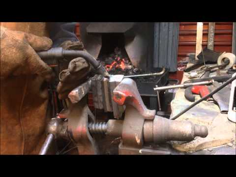 Union Forge   Forge welding Damascus  part 2   1 11 2015