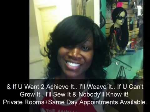 allthatandmorehair.com + kiastyles video + sew in hair weaves straight + Curly hairstyles with bangs