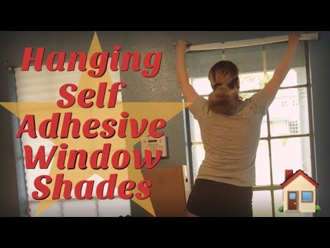 Hanging Self Adhesive Window Shades - DIY Decor For Cheap Price